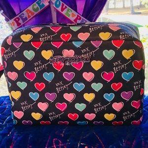 Betsey Johnson Double Zip Large Cosmetic Bag